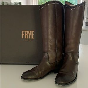 Frye Melissa Button Stud Tall Boots